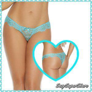🆕PLUS Eyelash Lace Brazilian back Panty Lingerie